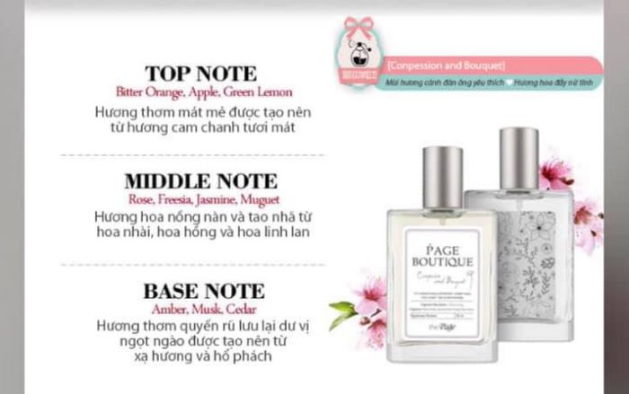 Nước Hoa The Page Boutique Conpession And Bouguet
