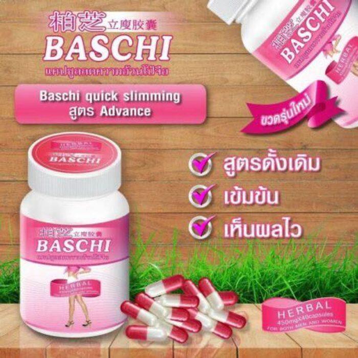 viên uống giảm cân baschi herbal hồng