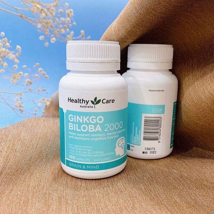 Viên uống bổ não Healthy Care Ginkgo Biloba