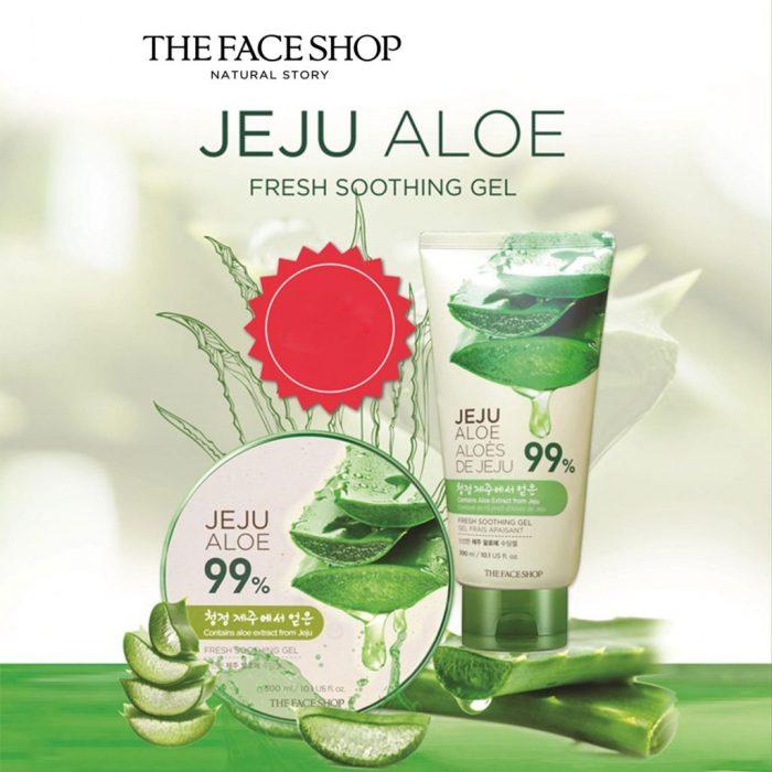 Gel Lô hội The Face Shop Jeju Aloe Fresh Soothing Gel