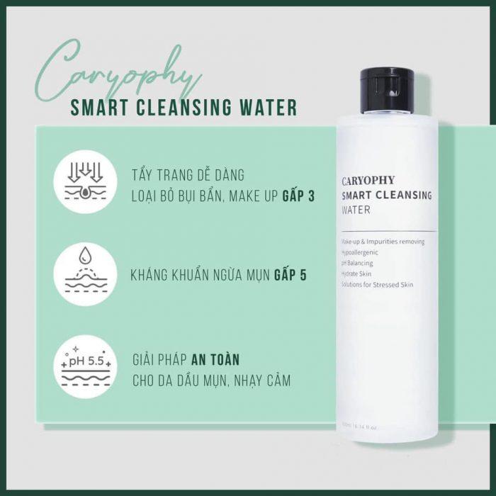 Nước tẩy trang Caryophy Smart Cleansing Water