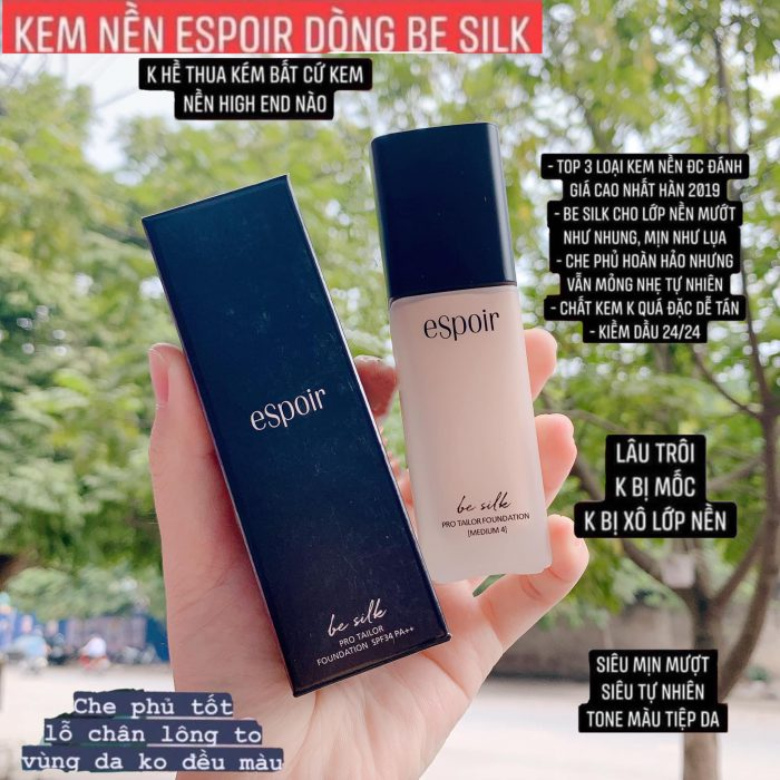 Kem Nền Espoir Be Silk Pro Tailor Liquid Foundation