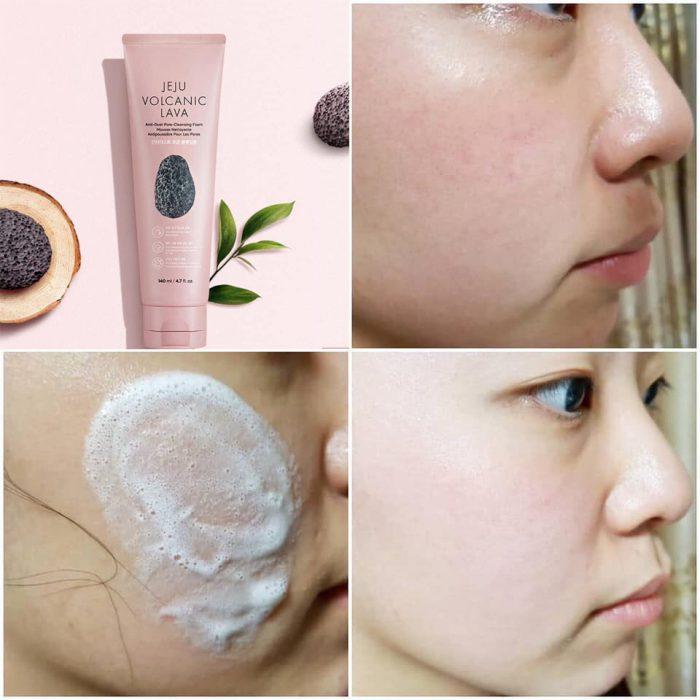 Sữa rửa mặt The Face Shop Jeju Volcanic Lava Anti Dust Pore Cleansing Foam
