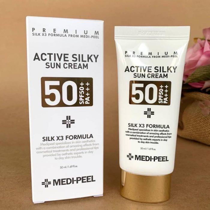 Kem Chống Nắng Medi Peel Active Silky Sun Cream SPF50+/PA+++