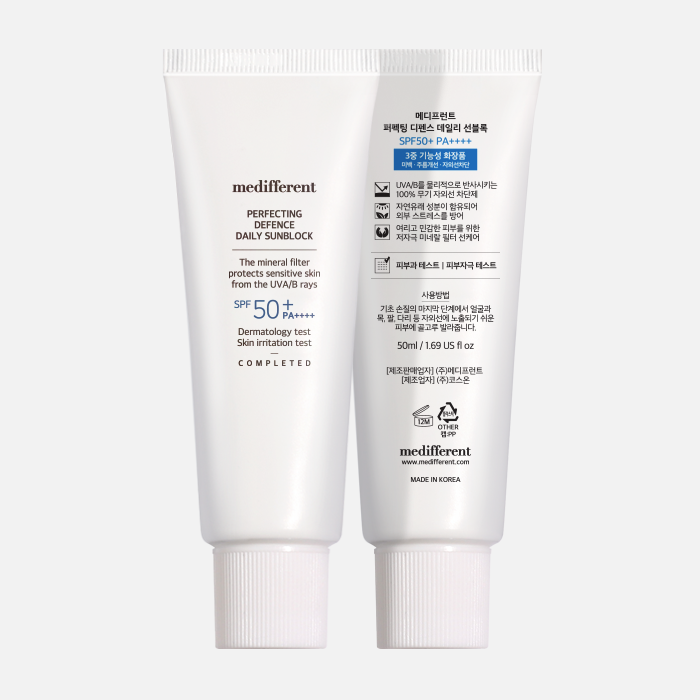 Kem Chống Nắng Medifferent Perfecting Defence Daily Sunblock SPF50+ PA++++