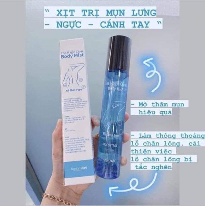 Xịt Trị Mụn Cơ Thể Angel's Liquid The Magic Clear Body Mist