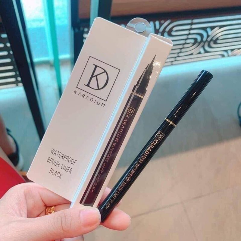 Kẻ Mắt Karadium Waterproof Brush Liner Black