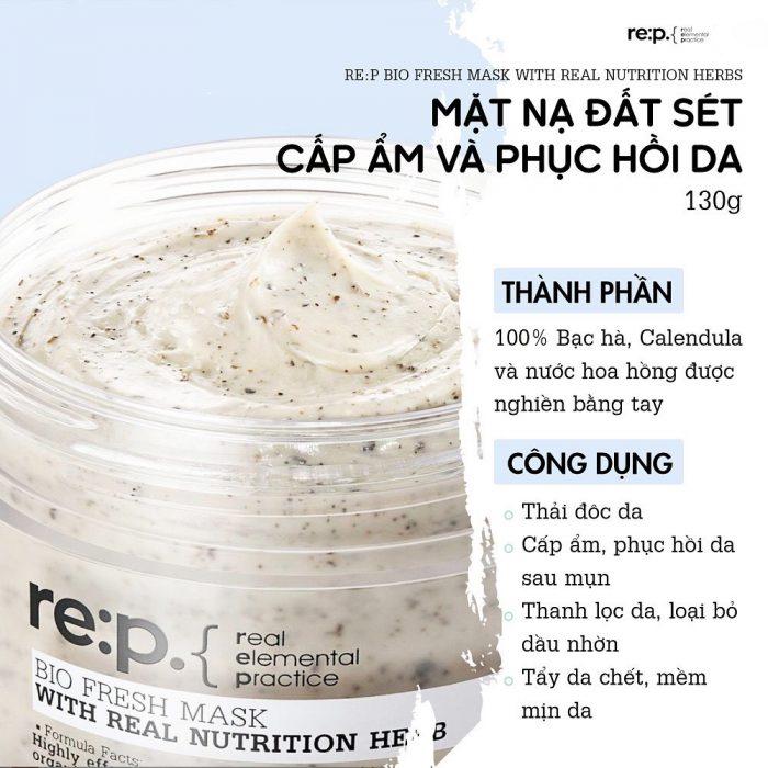 Mặt nạ đất sét Rep Bio Fresh Mask With Real Herbs